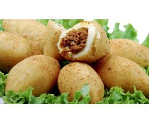 Salgados variados ( risole de milho/ bombom de mandioca c/ carne / pastel comum de carne /  trouxinha de calabresa / empada de frango, coxinha catupiry) Cento