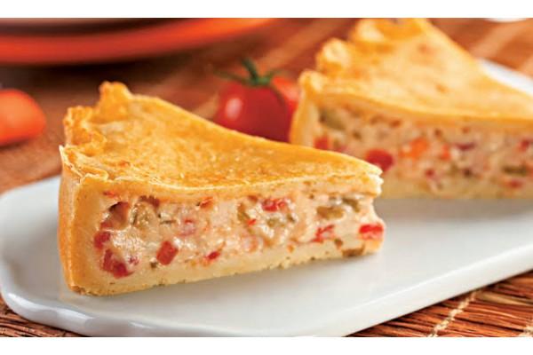 Torta ou Quiche de camarão ou bacalhau Pirex
